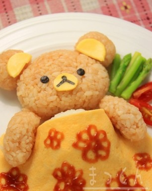 Kawaii-Rice-and-Omelet