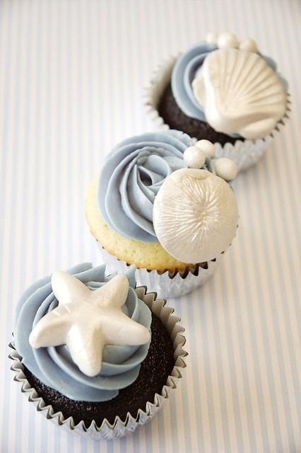 Seashell-Cupcakes