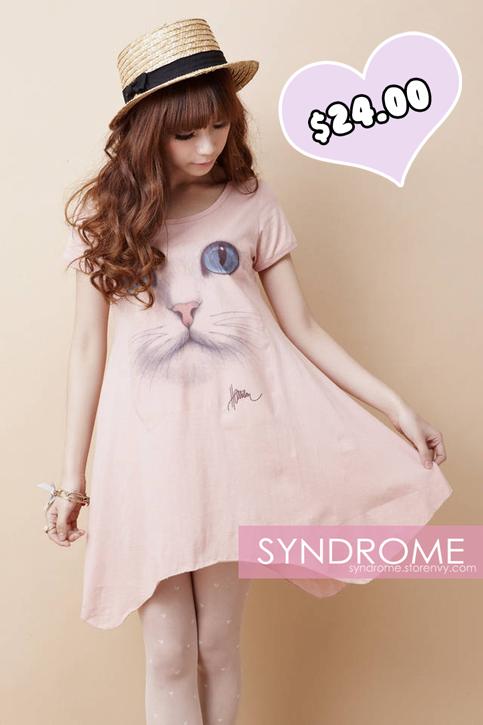 Sweet_cat_t-shirt_dress