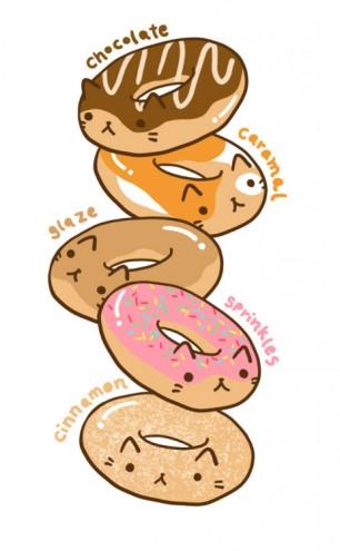 Piled Neko Donuts