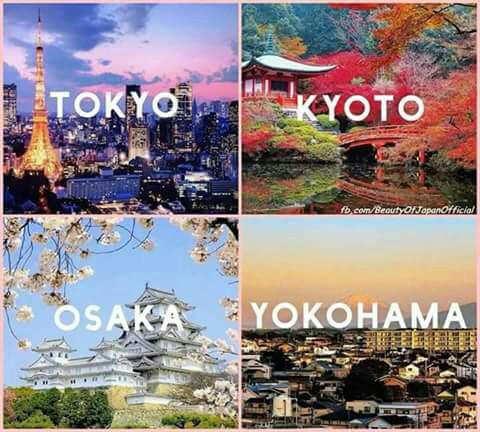Tokyo Kyoto Osaka Yokohama Postcard