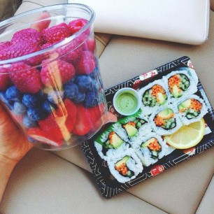Fruit and Sushi