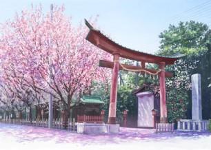 Amazing Sakura Torii