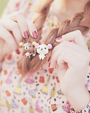 Kawaii Hair Elastics