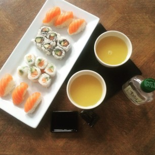 Yumz Sushi and Green Tea