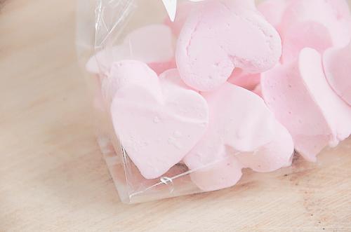 Marshmallow Pink Hearts
