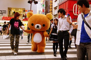 Rilakkuma Crossing the Street