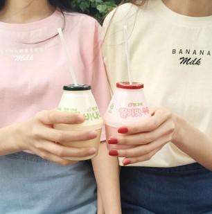 Strawberry and Banana Milk