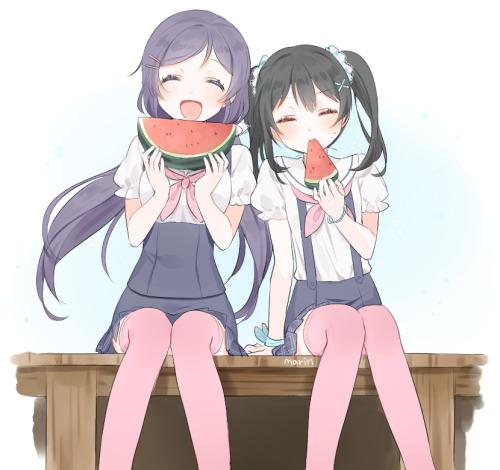 Enjoying Watermelon ±_±