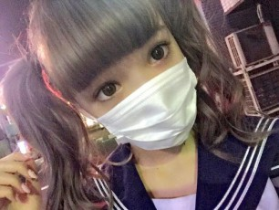 Japanese Cutie with Mask