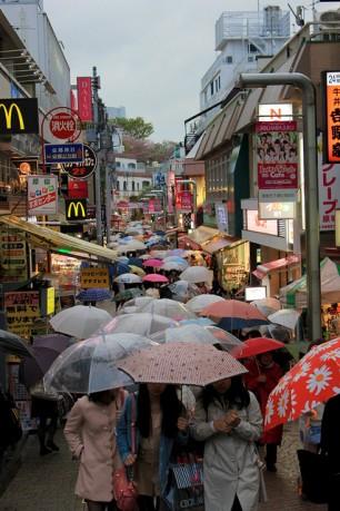 Rainy Japanese Festival Market