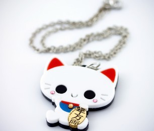 White-Cat-Pendant